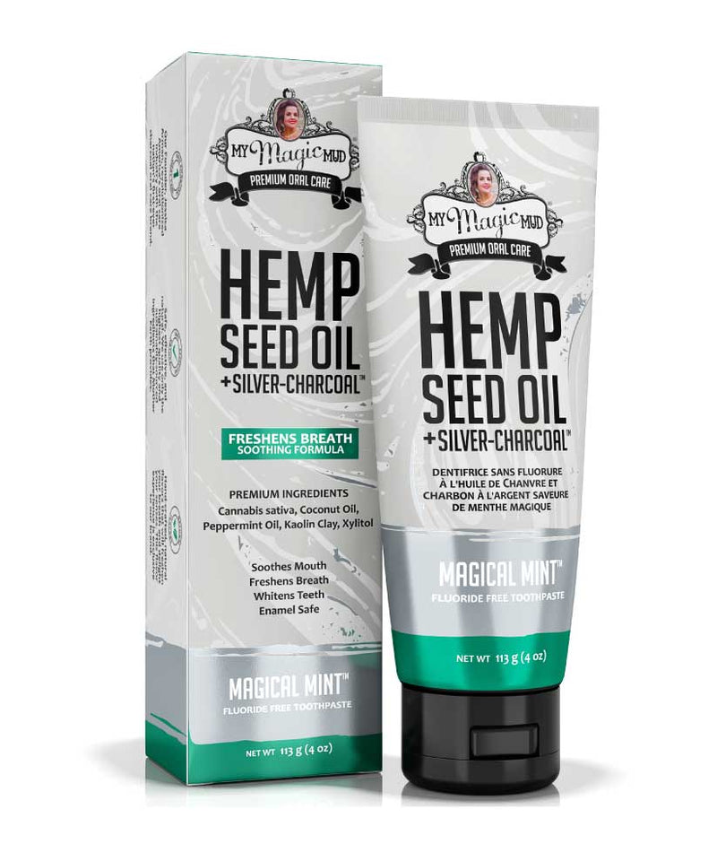 My Magic Mud Silver Charcoal Toothpaste - Hemp Seed Oil