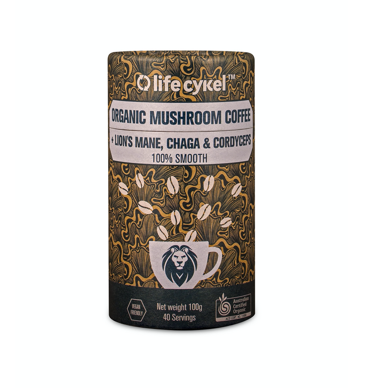 Organic Mushroom Coffee with Chaga and Cordyceps