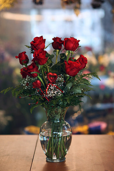 Radiantly Red Roses