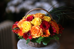 Gerbera & Rose Basket