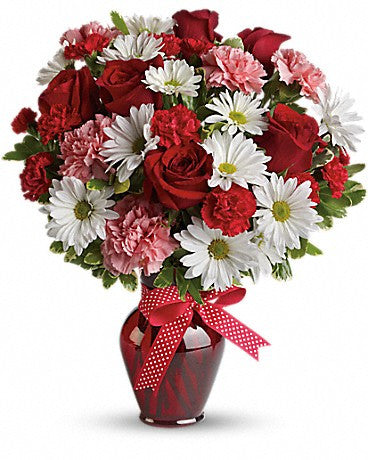 Kisses and Hugs Bouquet with Red Roses