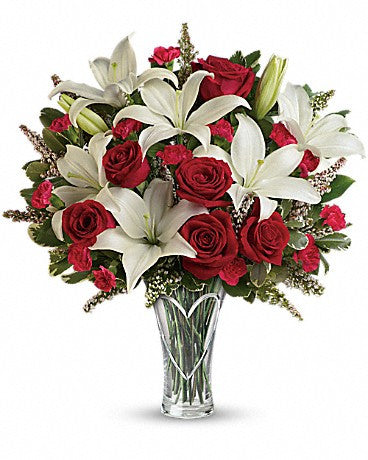 Heartfelt Bouquet with Lilies