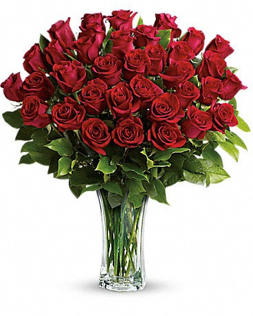 Love and Devotion - Long Stemmed Red Roses