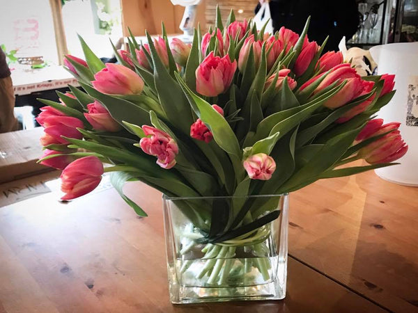 Spring special : Double Tulips Hand Bouquet