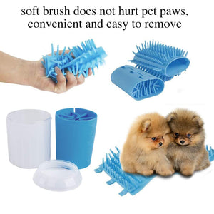 Pet Dog Foot Cleaning Cup Paw Plunger/ Brush