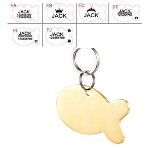 Pet Cat/Dog ID Tag/Name Plate