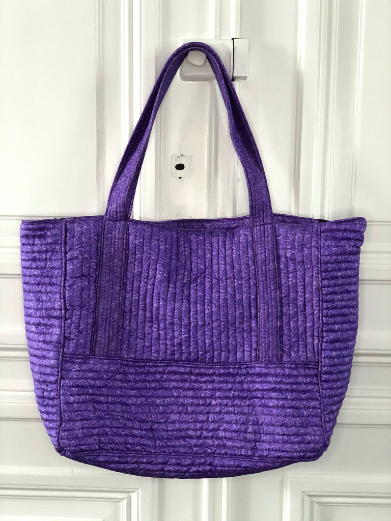 Sissel Edelbo Lena SILK maxi bag purple multi sustainable fashion @ modin