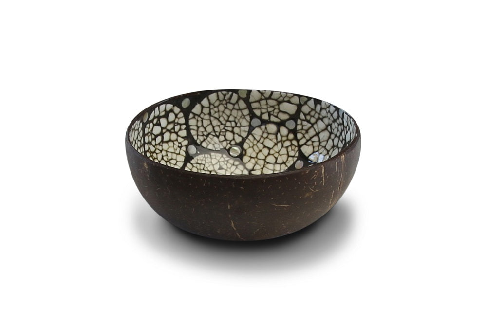 Noya Coconut bowl Black eggshell @ modin