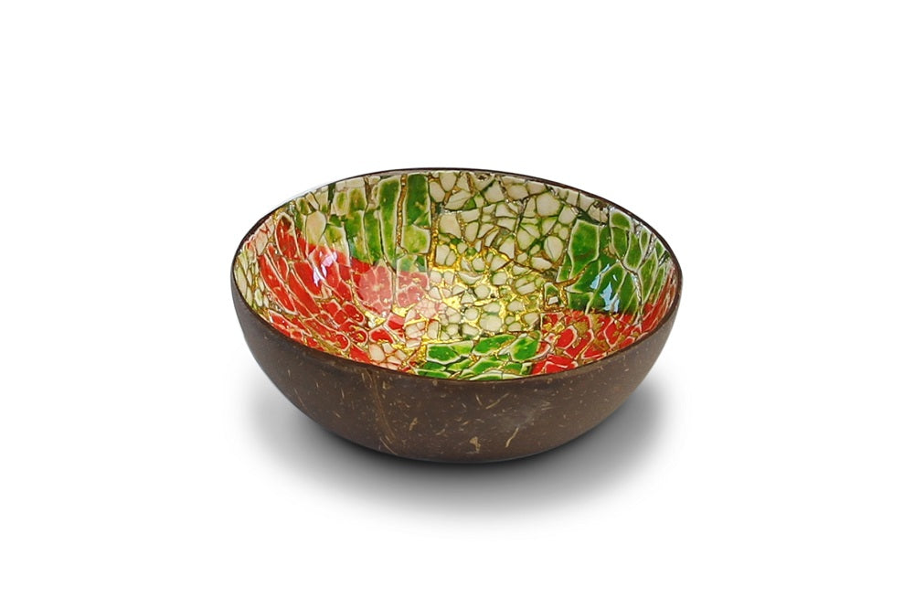 Noya Coconut bowl Lime green/red eggshell @ modin