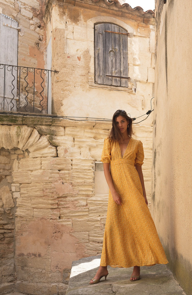 Poppyfield the label Adella dress yellow @ modin
