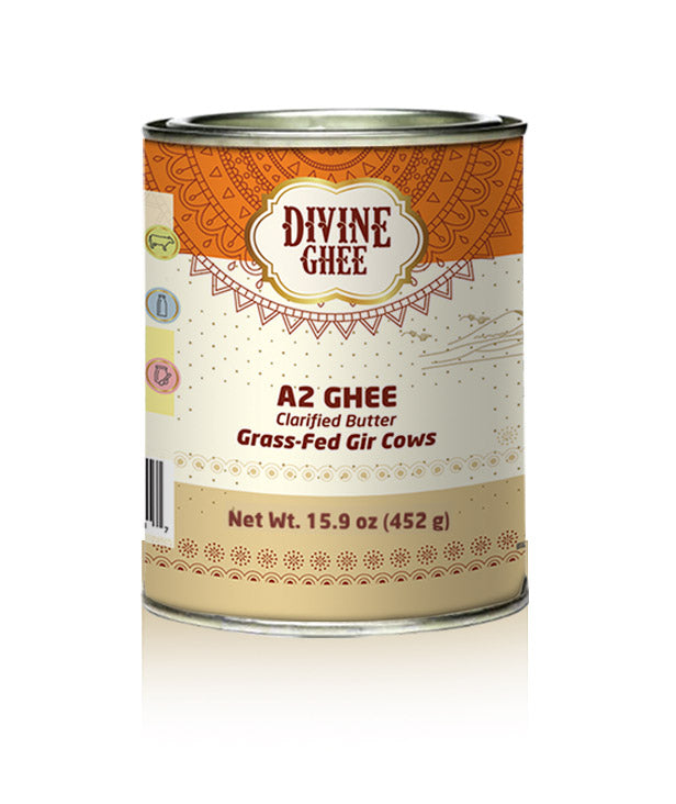 Original A2 Gir Cow ghee, Grass-fed, Pasture Raised - made from A2 Milk, Lactose & Casein free, Non GMO, Keto Friendly