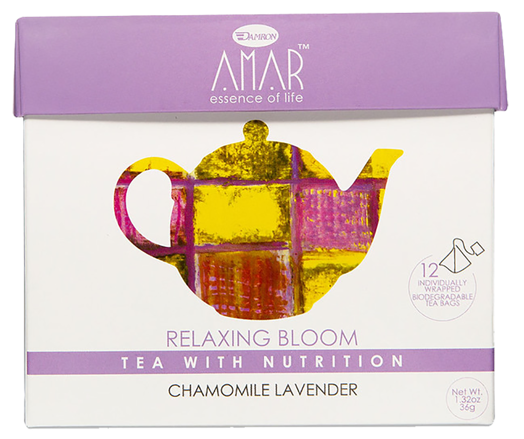 Organic Chamomile & Lavender 12 tea bags, AMAR - Essence of Life Teas with Nutrition