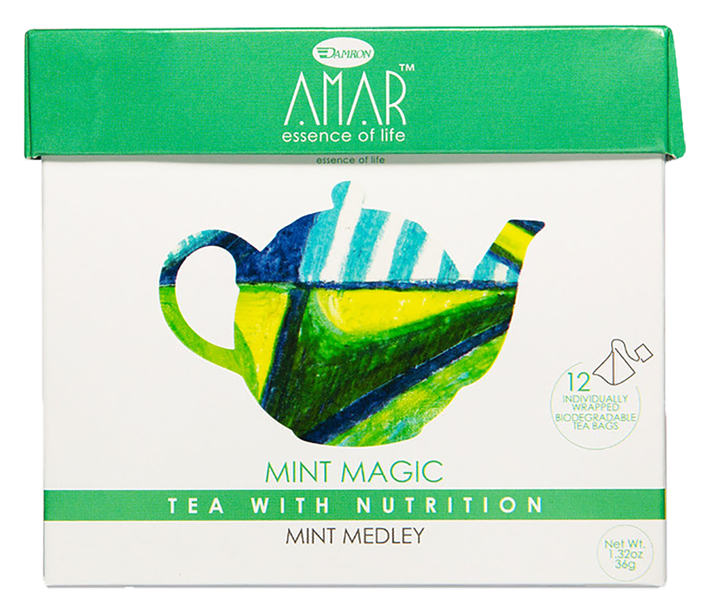 Mint Magic - Mint Medley 12 tea bags, AMAR - Essence of Life Teas with Nutrition