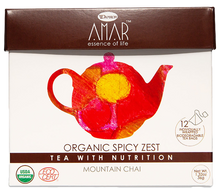 Load image into Gallery viewer, Organic Mountain Chai 12 tea bags, AMAR - Essence of Life Teas with Nutrition