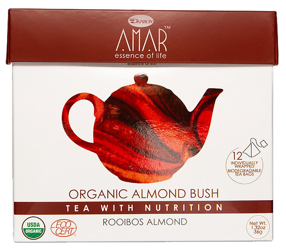 Organic Rooibos & Almond 12 tea bags, AMAR - Essence of Life Teas with Nutrition