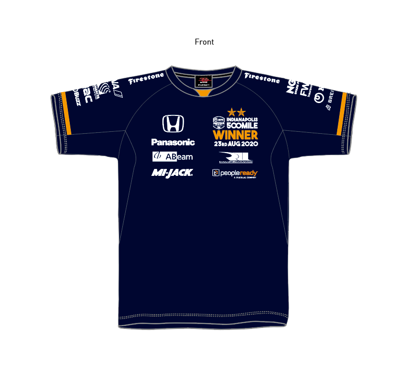 TS Driver's Tee INDY 500 WINNER 2020 Edition