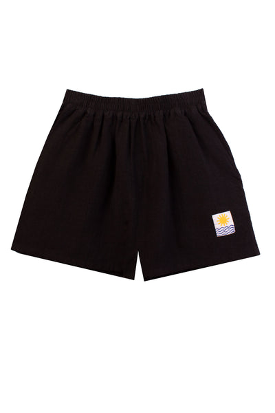 Basic Linen Shorts Black