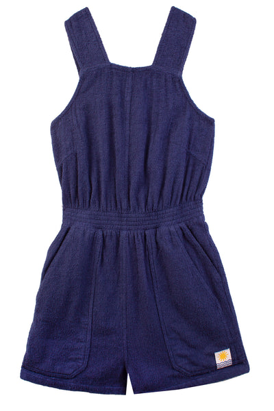 Emerson Playsuit Towelling Navy