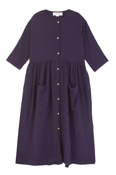 Sammy Dress Navy Voile
