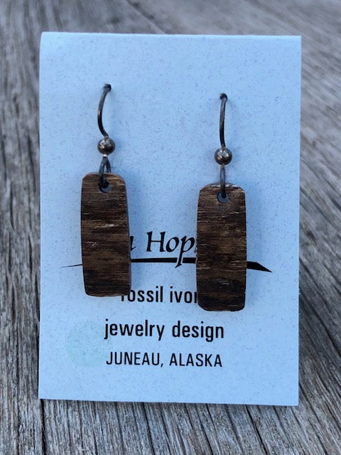 FOSSIL MAMMOTH IVORY EARRINGS