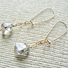 Load image into Gallery viewer, Herkimer Dangle Earrings