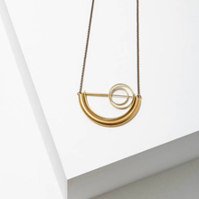 Load image into Gallery viewer, Alden Geometric Long Necklace Brass
