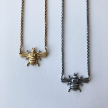 Load image into Gallery viewer, Bee Necklace Gold or Silver