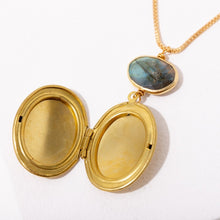 Load image into Gallery viewer, Brandi Locket Gem Necklace