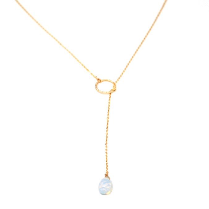 Pull Through Necklace Opalite
