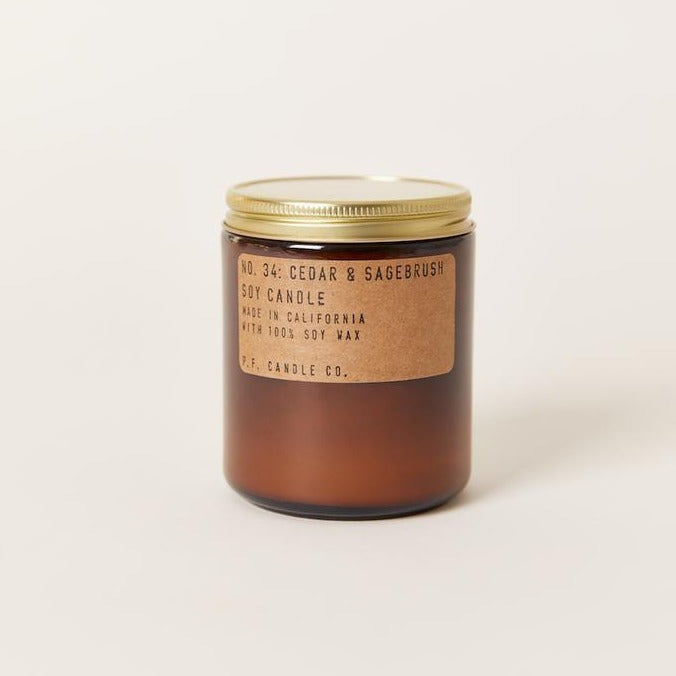 P.F. Candle Co • Hand Poured • Soy Candle • Cedar & Sagebrush Scent