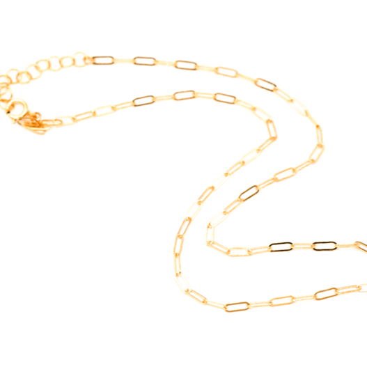 Lily Dainty Link Chain Choker Necklace 14K Gold Fill