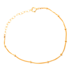 Load image into Gallery viewer, Minimalist Dotted Satellite Chain Bracelet Gold