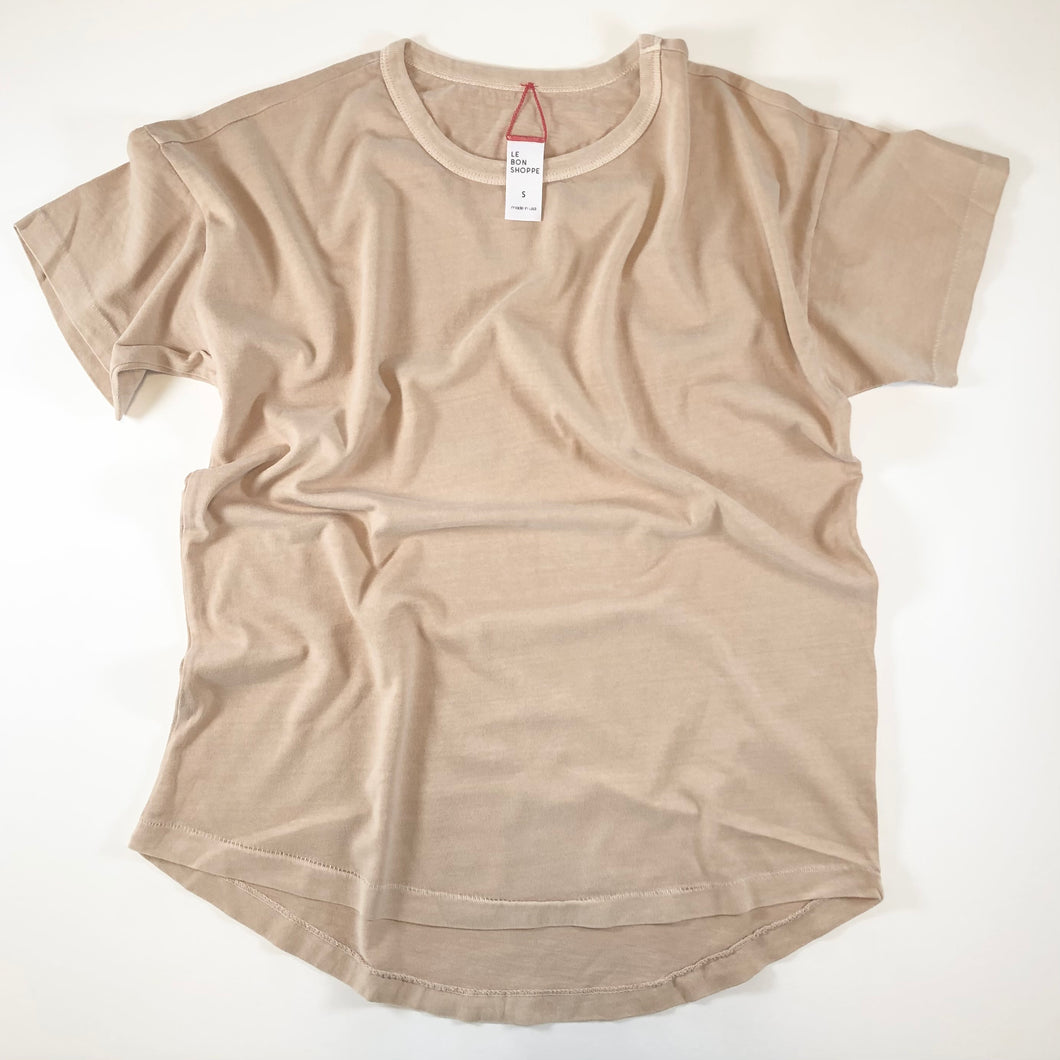 Le Bon Shoppe • Her Tee Camel • 100% Cotton • Made in USA