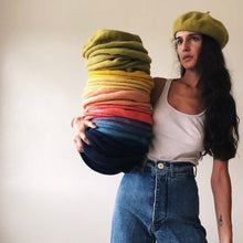 Load image into Gallery viewer, Nade Studio • Plant Dyed Wool Beret • Persimmon