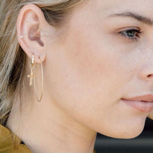 Load image into Gallery viewer, Seamless Sparkle Hoop Earrings •14K Gold Fill • Pick Your Size