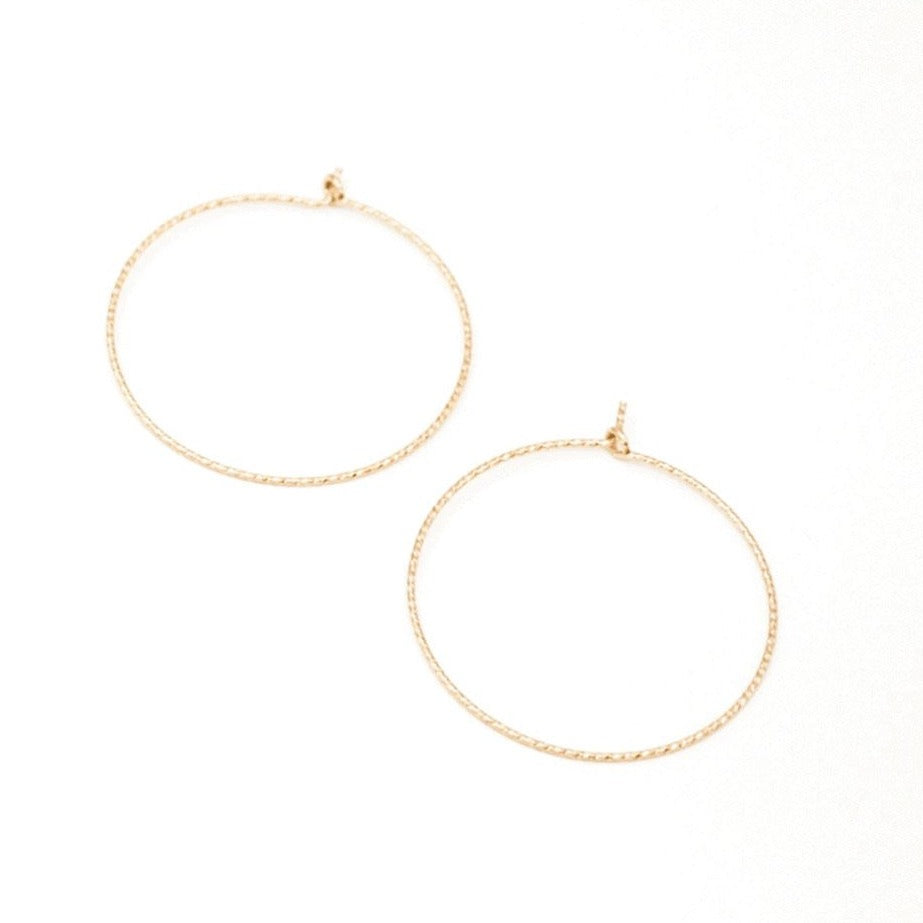 Seamless Sparkle Hoop Earrings •14K Gold Fill • Pick Your Size
