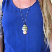 Load image into Gallery viewer, Planetary Necklace Long Brass & Copper