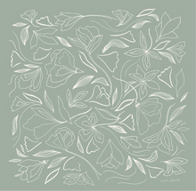 Load image into Gallery viewer, Elana Gabrielle • Silk Scarf • Floral Sage