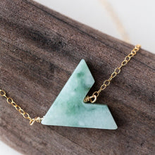 Load image into Gallery viewer, Desert Moon Design Sloan Triangle Gemstone Necklace Gold