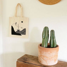 Load image into Gallery viewer, Desert Scene Tote Cotton Canvas