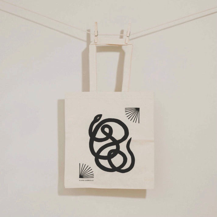 Snake Tote Cotton Canvas