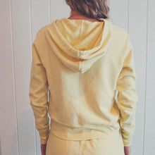 Load image into Gallery viewer, People of Leisure Cotton Fleece Daybreak Crop Hoodie Pale Yellow