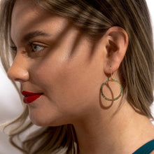 Load image into Gallery viewer, Larissa Loden & Wild Isles • Tiny Turquoise Bead Hoop Earrings • Gold