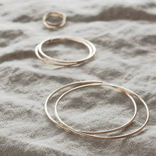 Load image into Gallery viewer, Thin Seamless Everyday Hoop Earrings Gold Small, Medium & Large