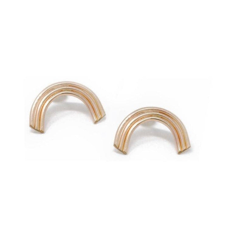 Daedal • Reading Rainbow Stud Earrings • 14K Gold Fill