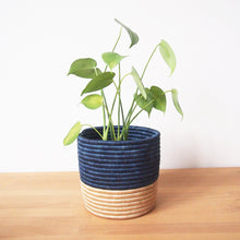 Load image into Gallery viewer, Fair Trade Island Blue Planter Basket