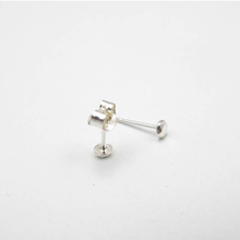 Load image into Gallery viewer, Extra Small Circle Nugget Earrings Sterling Silver