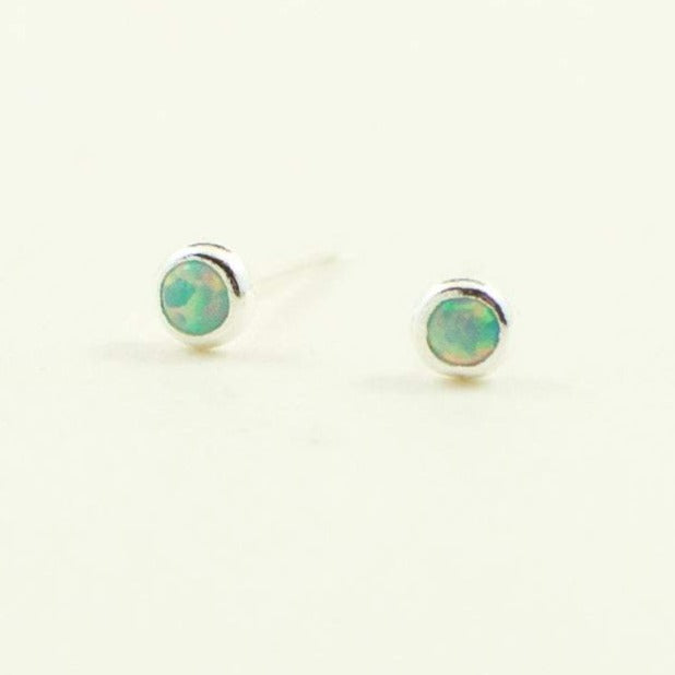 Gam Tiny Opal Stud Earrings