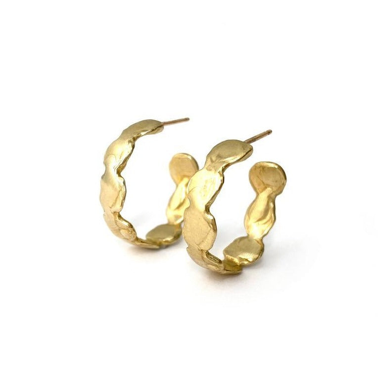Goldelux • Reverie Hoop Earrings • Brass