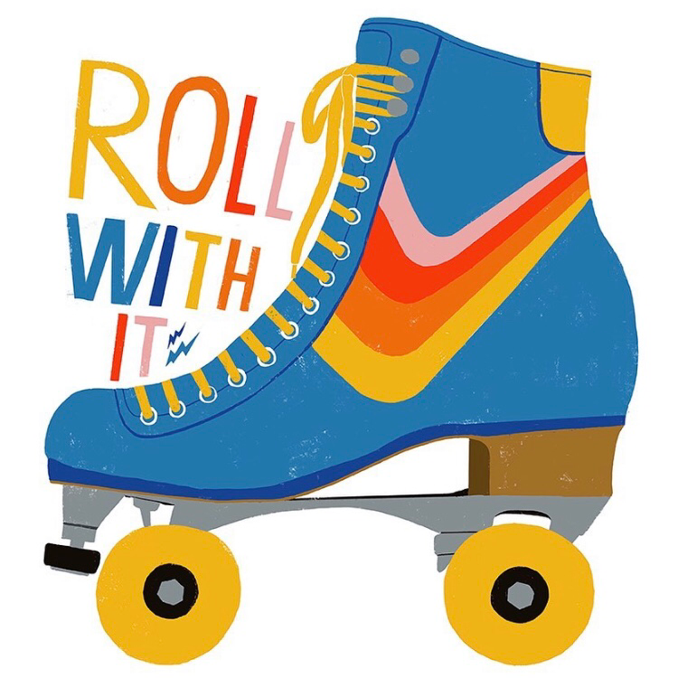 Lisa Congdon • Roll With It • Art Print 11x14